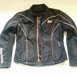 Harley Davidson XL Womens Zip Moto Jacket Padded
